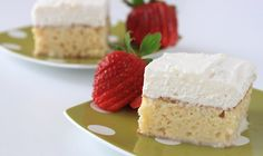 Tres leches cake with a hint of cinnamon from Rumchata!