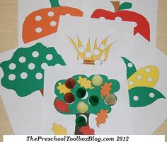 Fall Play Dough Counting Mats for #Preschool and #Kindergarten