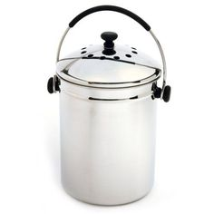 Stainless Steel Kitchen Compost Keeper Bin with Charcoal Filter - Quality House