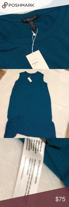 Eileen Fisher round neck dress NWT •viscose fiber •knit and dyed in Montreal Eileen Fisher Dresses
