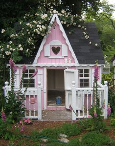 Cathy Scalise tiny victorian pink cottage wee homes...  www.liberatingdivineconsciousness.com