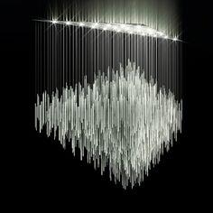 chandelier – pendant lamp, metallic minimalism | lighting . Beleuchtung . luminaires | Design: Lasvit |
