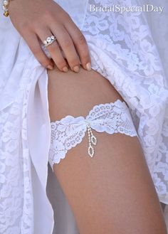 9a6af40f9f9117 Wedding Clothing Wedding Garter Set Lace by BridalSpecialDay White Bridal  Garter