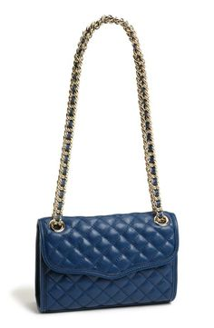 Handbag staple | Navy and gold quilted convertible crossbody bag
