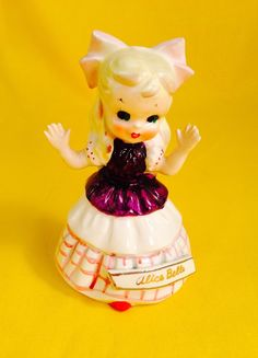 Very Rare! Alice in Wonderland Vintage Artmark Figurine Bell Alice Belle Sale | eBay