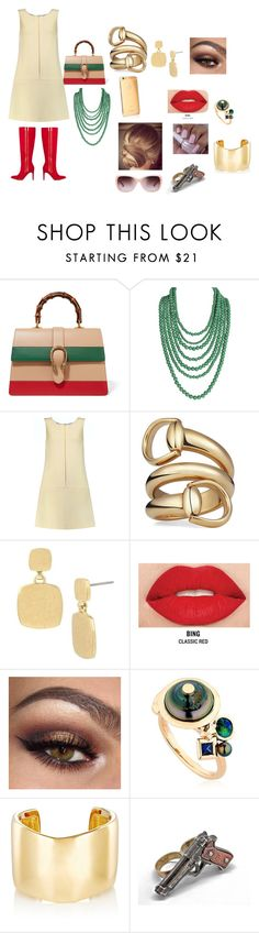 """""""Dressed to Kill"""" by jade2001edwards on Polyvore featuring Gucci, Humble Chic, Goat, ShoeDazzle, Kenneth Cole, Smashbox, BIBI VAN DER VELDEN, Jennifer Fisher and Tory Burch"""