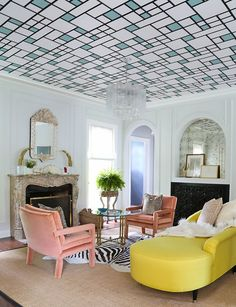 Living Room in Wilmette, IL by Summer Thornton Design