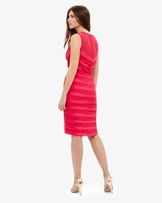 7c327db0694 Phase Eight Sadie Layered Dress Pink