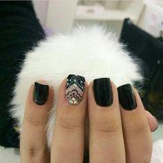 Beauty, Finger Nails, Black Nails, Nail Manicure, Fingernail Designs, Hands