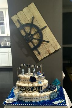 Baby Boy | Nautical Baby Shower | Cruise Ship Diaper Cake