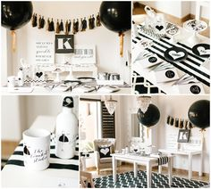 Simple Black And White Party Ideas Pinteres