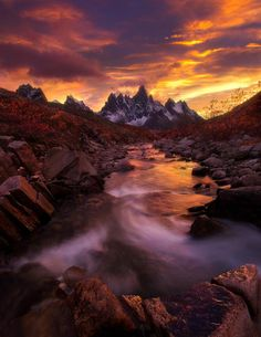 Sunset at the Ogilvie Mountains, YT ~ Hidden World Wonders