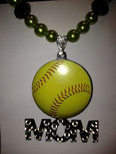 softball mom necklace