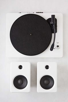 EP-33 White Bluetooth Turntable with Speakers