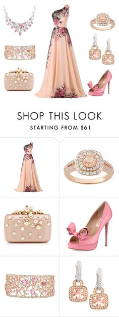 """""""Pretty Pink Prom"""" by kazemkina ❤ liked on Polyvore featuring CO, Elie Saab, Valentino and Frederic Sage"""