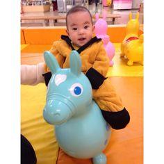 Instagram media otar8273 - ⚘1121 sat. . パパとママの趣味でもある乗馬 おおきくなったら、本当のお馬さんの背中に乗せてもらおうね . #ロディ #今日のりょっくん #赤ちゃん #7月生まれ #男の子 #親バカ部 #新米ママ #ママカメラ #2015jul_baby