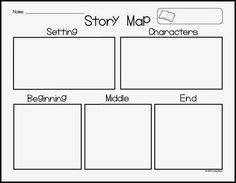 AMAZING freebie to use for story maps... Perfect for Kindergarten to sketch their plans before writing! :) Reading Centers, Reading Workshop, Reading Activities, Reading Skills, First Grade Writing, 2nd Grade Reading, Guided Reading, Los Tres Osos, Kindergarten Language Arts