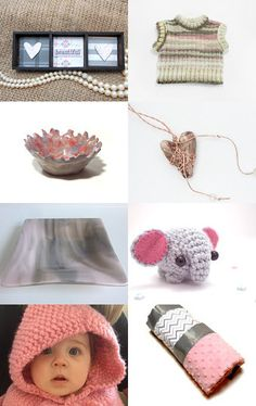 beautiful in pink and gray by Laurie Oharra on Etsy--Pinned with TreasuryPin.com
