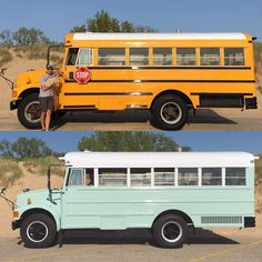 Tell us a bit about the way in which the idea to create a bus into a house on wheels came about. You should be mindful that you're residing in a bus and will want to park in weird areas sometimes. The perfect bus isn't going to amazingly appear before … School Bus Tiny House, Old School Bus, Converted School Bus, School Buses, School Bus Conversion, Camper Conversion, Volkswagen Bus, Bus Remodel, Rv Bus