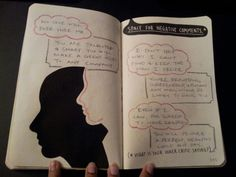 Wreck This Journal: Space For Negative Comments.