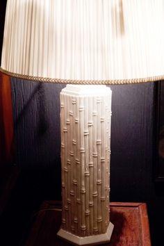 Blanc de Chine Faux Bamboo Antique Lamp Hollywood Regency Mid Century | eBay