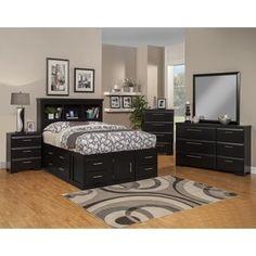 Sandberg Furniture Serenity Ultimate Twelve-drawer Storage Bed