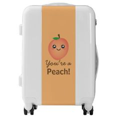 #You're a Peach Sweet Kawaii Cute Funny Foodie Luggage - #luggage #suitcase #suitcases #bags #trunk #trunks