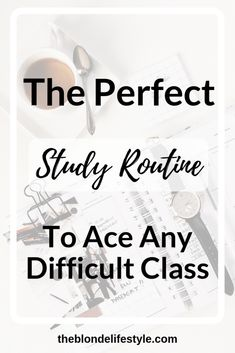 I've come up with a study routine to help you ace and conquer any class of your choosing t. Here is my perfect study routine for intense classes. College Classes, College Fun, Education College, College Students, College Tips, College Football, Espn College, College Schedule, College Planner