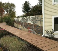 s 9 budget ways to make your walkway look even better than last year, concrete masonry, gardening, Get a planked wood look with stamped concrete