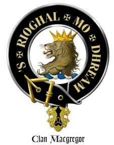 Clan Gregor (also Griogair, MacGregor, Mac Gregor, McGregor, M'Gregor) is a Highland Scottish clan. Outlawed for nearly two hundred years after a long power struggle with the Clan Campbell. the clan motto, 'S Rioghal Mo Dhream, translated as 'Royal is my Race