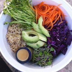Macrobiotic Rainbow Bowl + Tahini-Soy Dressing