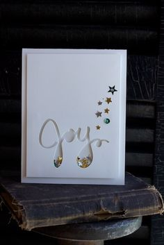 stampin' by the sea Joy Christmas card