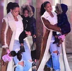 Rih & Majesty in New York today Rihanna Love, Rihanna Riri, Rihanna Style, Look Fashion, Autumn Fashion, Fashion Outfits, Fashion Black, Fashion Shoes, Celebrity Wallpapers