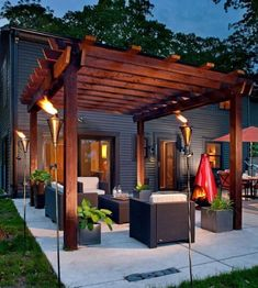 32 Creating Stunning Pergola Decorations Inspiring Ideas, These ideas you are able to try prior to making your pergola design. The ravishing pergola design functions as a home extension. Diy Pergola, Building A Pergola, Modern Pergola, Pergola Ideas, Outdoor Pergola, Pergola Lighting, Cheap Pergola, Building Plans, Wood Pergola