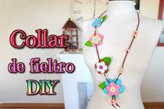 Manualidades con fieltro, tutorial collar de flores DIY - IDEAS PARA REGALAR - Isa ❤️ | Manualidades