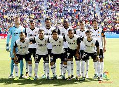 EQUIPOS DE FÚTBOL: VALENCIA contra Levante 16/08/2017 Liga de 1ª División