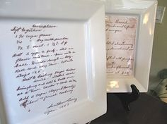 Wonderful idea. I have some of my Grandmas old recipe cards and I cherish her handwriting on them. This is very sweet.