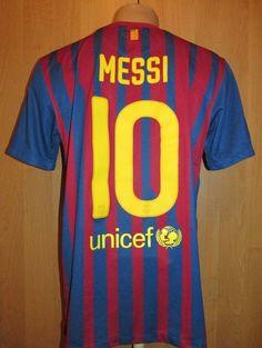 2d1dfc93789 Barcelona 2011 2012 home shirt camiseta soccer jersey  10 messi nike  argentina m