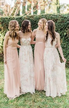 Watercolors bridesmaid dress