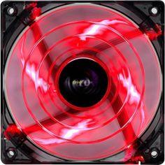 AEROCOOL SHARK FAN 12CM red EDITION VENTOLA 120 MM MODDING CASE LED CABINET