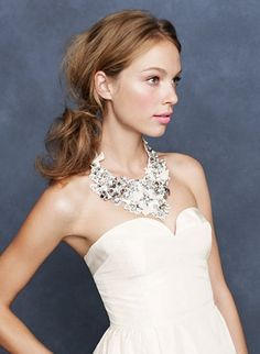 Try a statement necklace for your wedding day