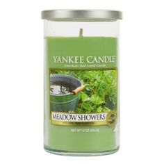 Light this 12-oz jar candle from Yankee Candle and fill your home with a fresh aroma blend of rain showers and green grass.
