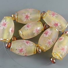 Ikuyoglassart Handmade Lampwork Glass Focal Bead Set SRA   eBay