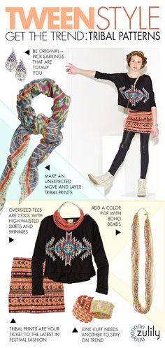 Such cute, cute stuff!!!   Be in the know. Get our tips on tween style trends. #zulily