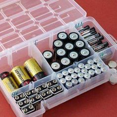 Tackle box for battery storage; keep them clean, dry, handy