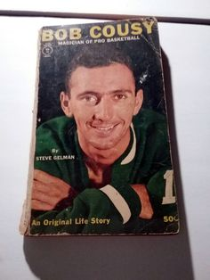 Bob Cousy Magician Of Pro Basketball vintage First Printing 1961 paperback book Boston Celtics by Fchoicevintage on Etsy