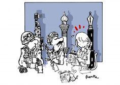 Soutien à Charlie Hebdo. Les dessins de presse ne lèvent pas l'encre