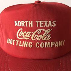 Vtg Coca Cola North Texas Bottling Co Trucker Baseball Cap Hat #CocaCola