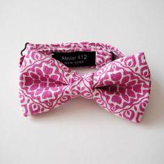 Pink paisley bow.