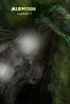 """""""AlieNación"""" (p8) novela gráfica con guión de Federico Sartori y dibujos de Andrés Casciani - 2016 para Alquimia Comics: https://alquimiacomics.wordpress.com/  http://andrescasciani.com/"""